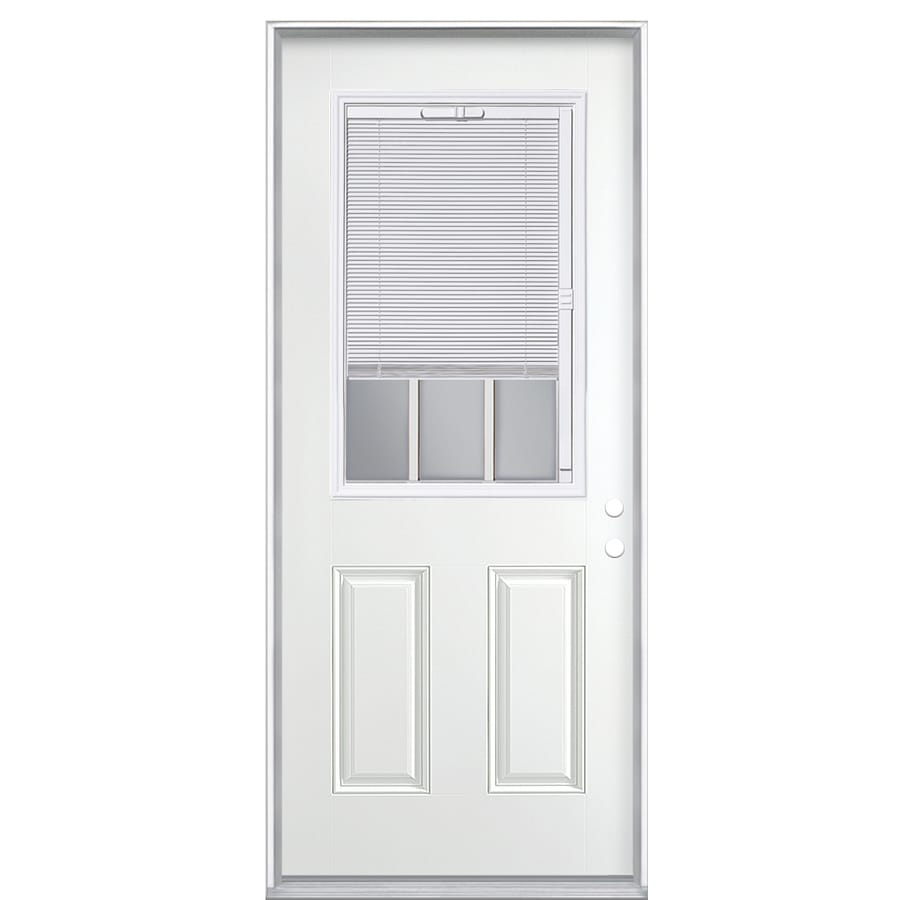 Shop masonite 2 panel insulating core blinds and grilles for Prehung exterior door