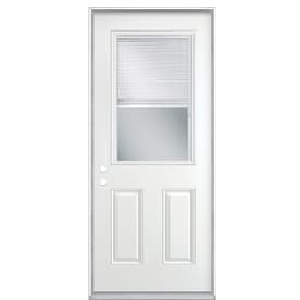 exterior door glass inserts with blinds. masonite 2-panel insulating core blinds between the glass half lite steel prehung entry door exterior inserts with