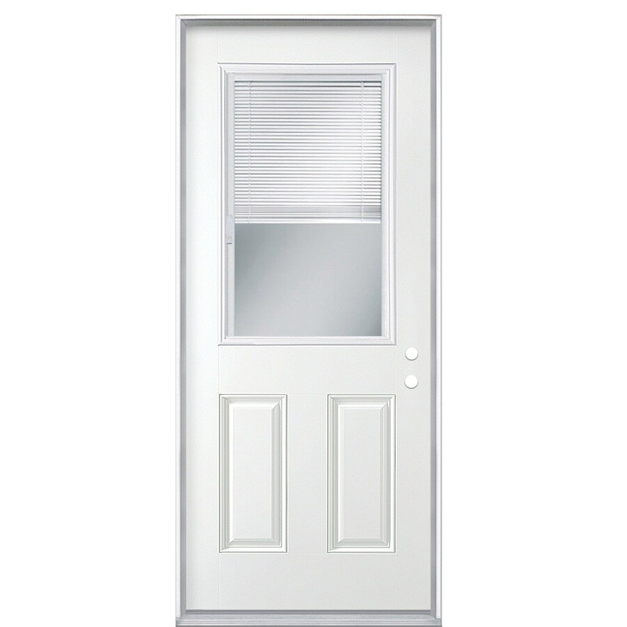 Masonite Exterior Doors Of Shop Masonite Decorative Glass Left Hand Inswing Primed