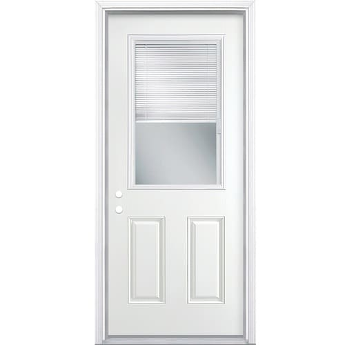 Masonite 32 In X 80 In Steel Half Lite Right Hand Inswing Primed Prehung Single Front Door Brickmould Included With Blinds In The Front Doors Department At Lowes Com Check out our old exterior doors selection for the very best in unique or custom, handmade pieces from our doors shops. masonite 32 in x 80 in steel half lite right hand inswing primed prehung single front door brickmould included with blinds lowes com