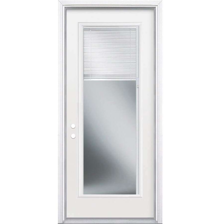 Shop masonite full lite blinds between the glass right for Entry doors with glass