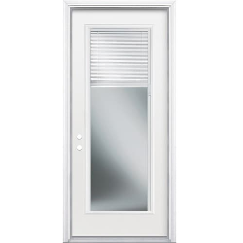Masonite 36 In X 80 In Steel Full Lite Right Hand Inswing Primed Prehung Single Front Door Brickmould Included With Blinds In The Front Doors Department At Lowes Com Most surveyed homeowners report paying between $522 and $1,588. masonite 36 in x 80 in steel full lite right hand inswing primed prehung single front door brickmould included with blinds lowes com