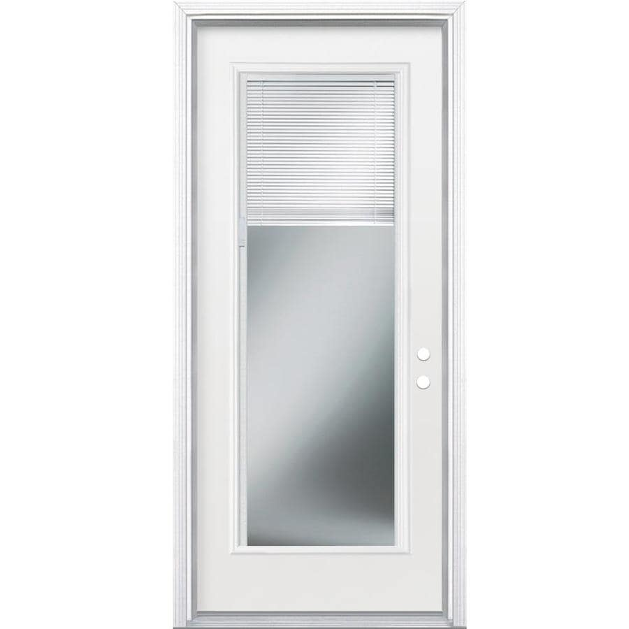 Shop masonite 2 panel insulating core blinds between the for Exterior door insulation