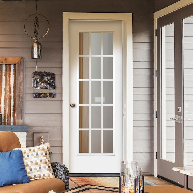 Masonite 32 In X 80 In Steel Full Lite Right Hand Inswing Primed Prehung Single Front Door Brickmould Included In The Front Doors Department At Lowes Com Masonite is one of the world's leading manufacturers of interior and exterior doors. lowe s