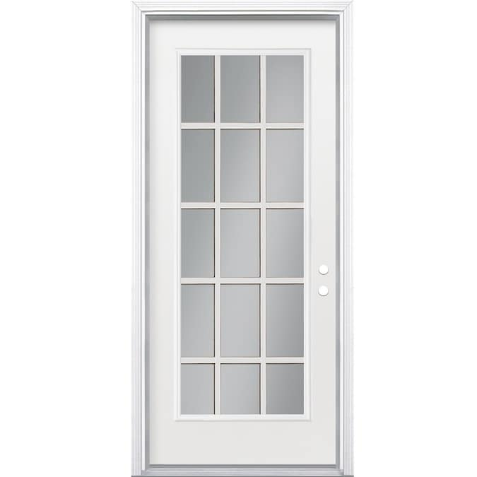 Masonite 32 In X 80 In Steel Full Lite Left Hand Inswing Primed Prehung Single Front Door Brickmould Included In The Front Doors Department At Lowes Com I have added a couple of pictures. masonite 32 in x 80 in steel full lite left hand inswing primed prehung single front door brickmould included