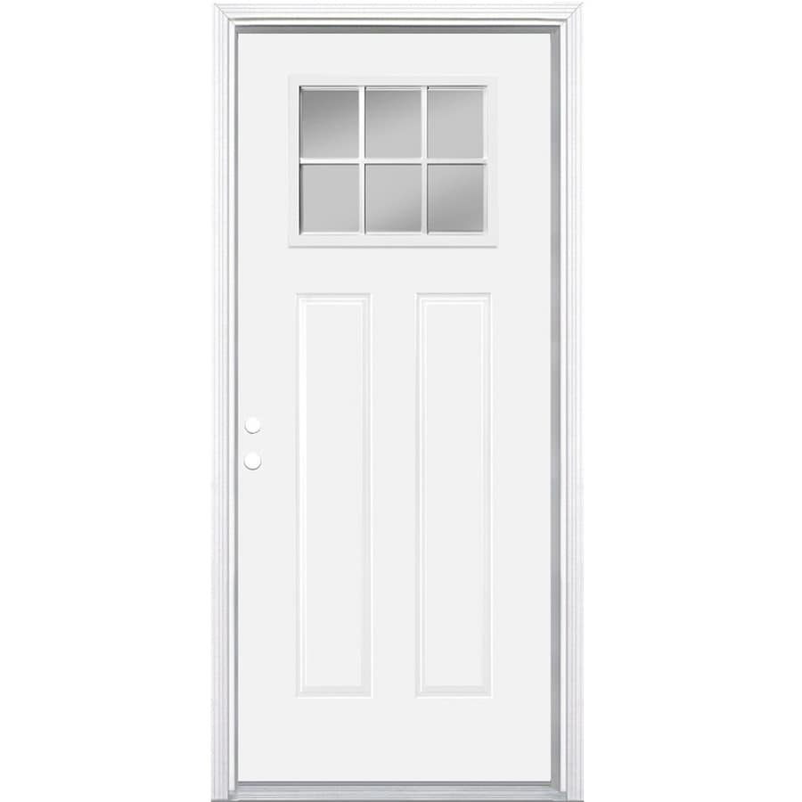 Masonite Right-Hand Inswing Primed Steel Entry Door with Insulating Core (Common 36  sc 1 st  Lowe\u0027s & Shop Masonite Right-Hand Inswing Primed Steel Entry Door with ...