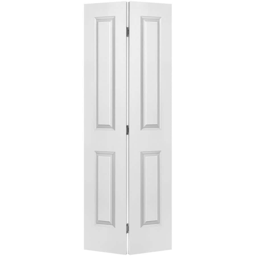 Masonite Classics Primed Hollow Core Molded Composite Bi-Fold Closet Interior Door with Hardware (Common: 30-in X 80-in; Actual: 29.5-in x 79-in)