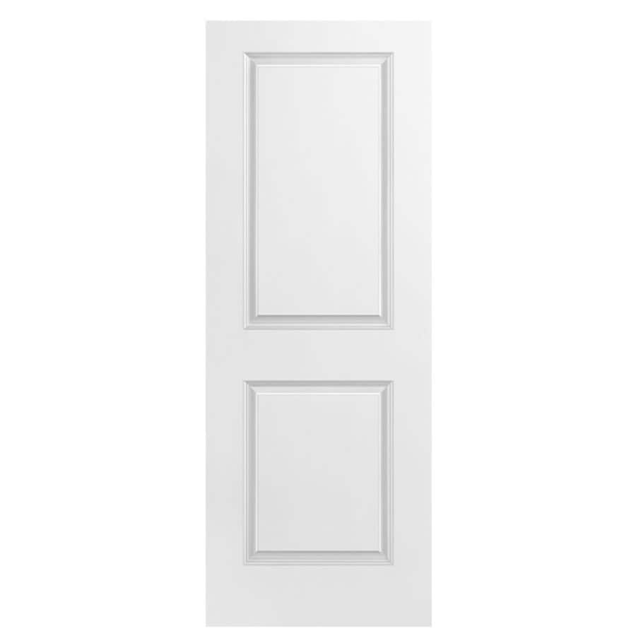 Masonite Hollow Core 2-Panel Square Slab Interior Door (Common: 32-in x 80-in; Actual: 32-in x 80-in)