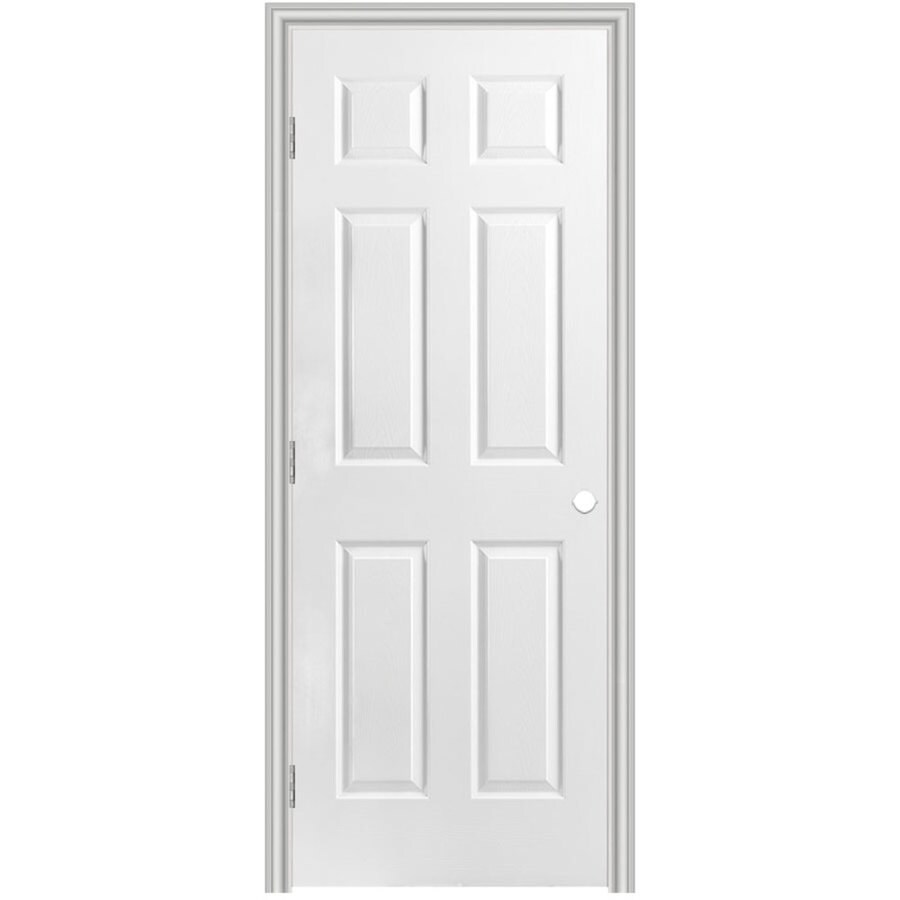 Masonite Classics Primed Solid Core Molded Composite Single Prehung Interior Door (Common: 24-in x 80-in; Actual: 25.5-in x 81.5-in)