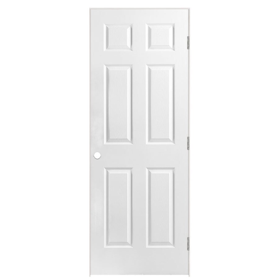 Masonite Prehung Solid Core 6-Panel Interior Door (Common: 28-in x 78-in; Actual: 29.5-in x 79.5-in)