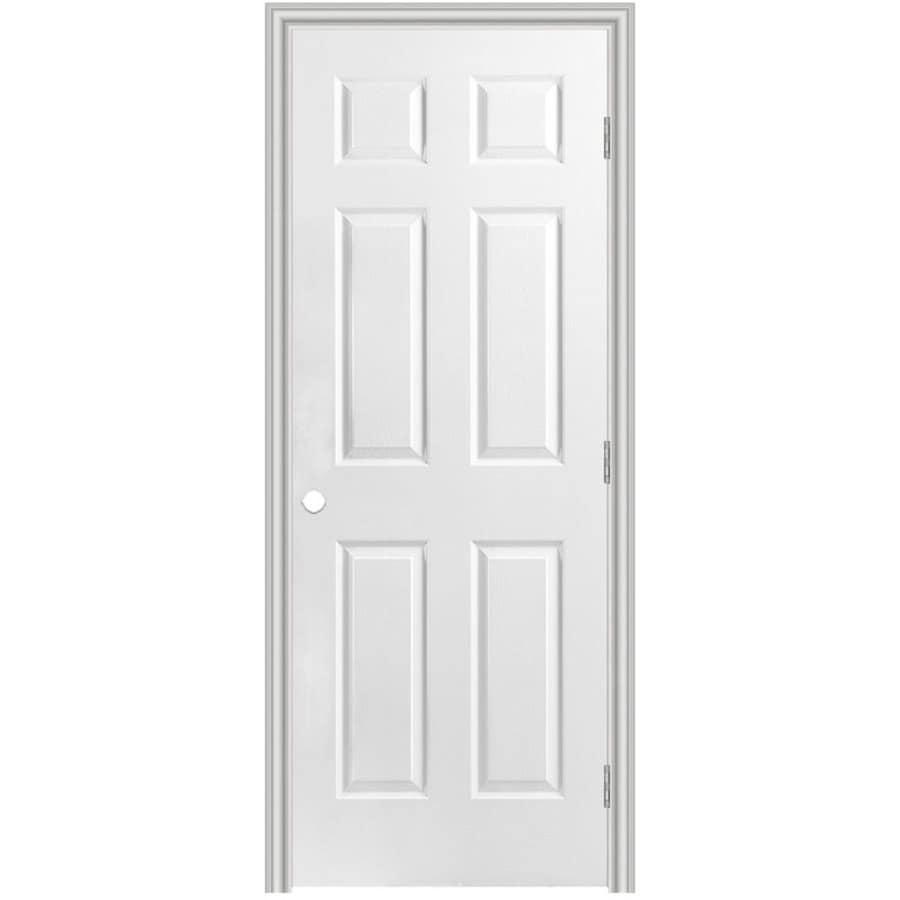 Masonite Classics  6-panel Single Prehung Interior Door (Common: 24-in X 80-in; Actual: 25.5-in x 81.5-in)