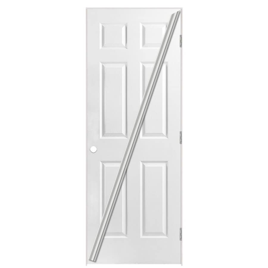 Masonite Classics Primed Solid Core Molded Composite Single Prehung Interior Door (Common: 28-in x 80-in; Actual: 29.5-in x 81.5-in)