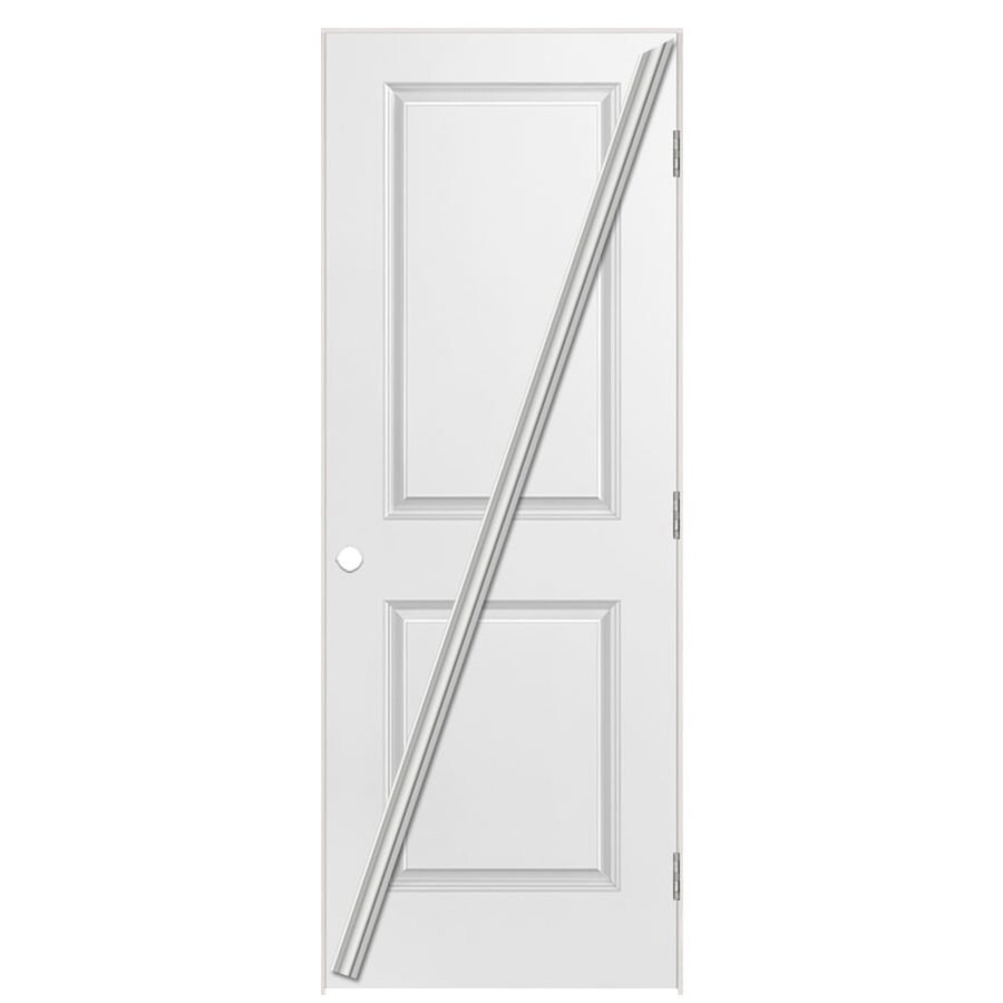Masonite Classics Primed Hollow Core Molded Composite Single Prehung Interior Door (Common: 24-in x 80-in; Actual: 25.5-in x 81.5-in)