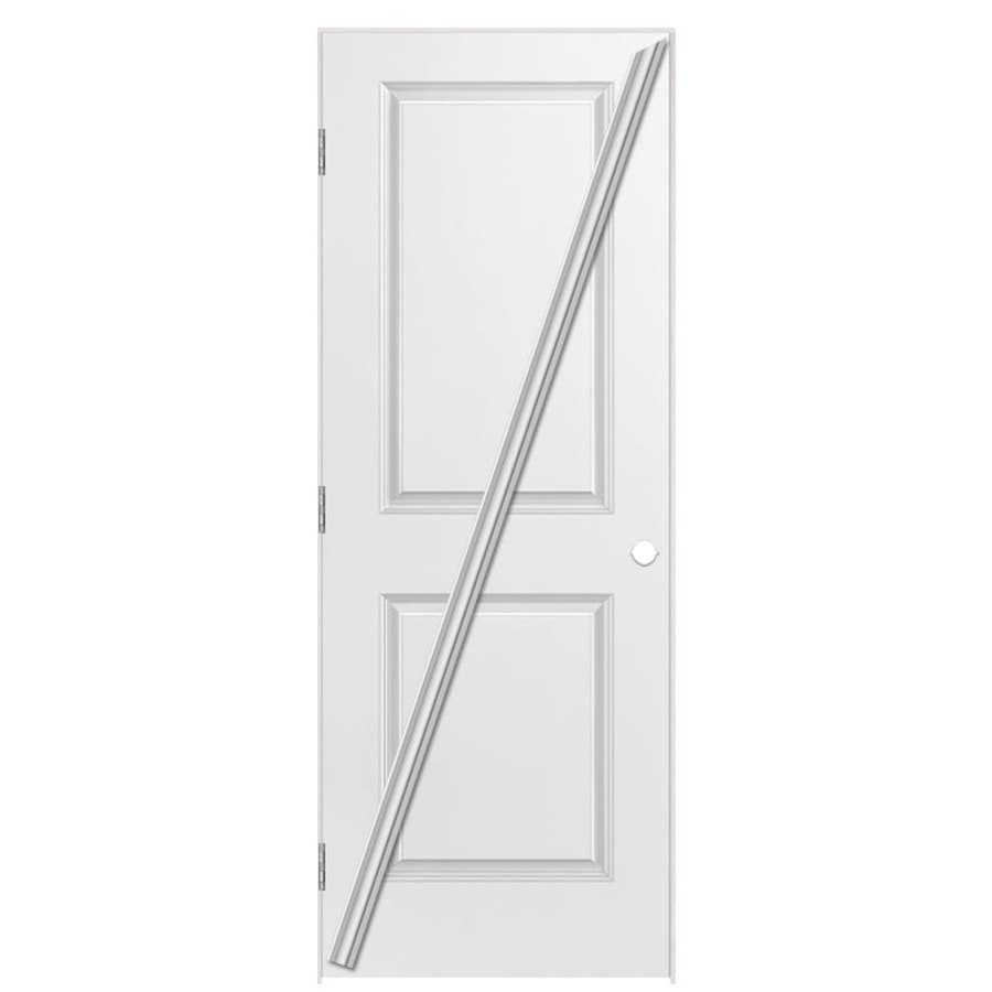 Masonite Prehung Hollow Core 2-Panel Square Interior Door (Common: 28-in x 80-in; Actual: 29.5-in x 81.5-in)
