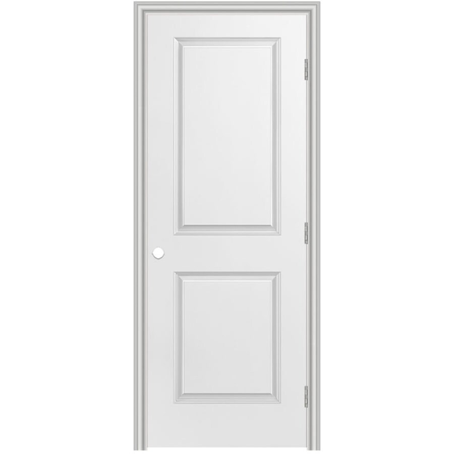 Masonite Primed 2 Panel Square Hollow Core Molded Composite Single Prehung Door Common 24 In X 80 Actual 25 5 81