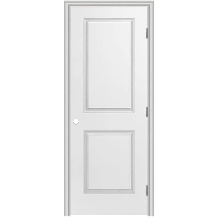 Masonite Prehung Hollow Core 2-Panel Square Interior Door (Common: 32-in x 80-in; Actual: 33.5-in x 81.5-in)