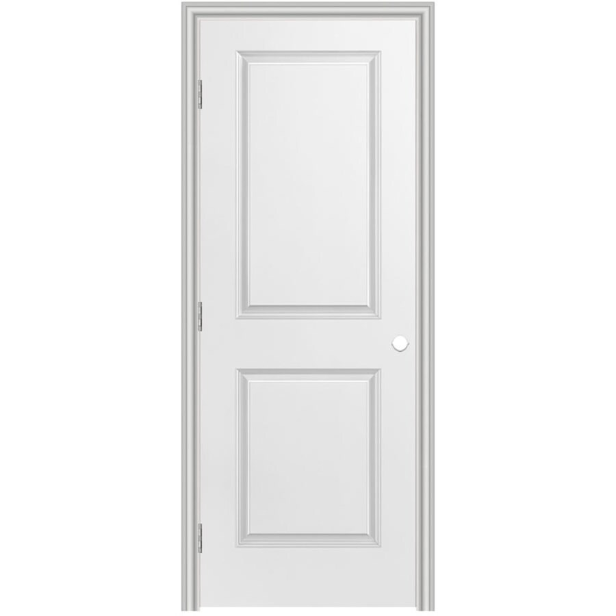 Masonite Prehung Hollow Core 2-Panel Square Interior Door (Common: 36-in x 80-in; Actual: 37.5-in x 81.5-in)