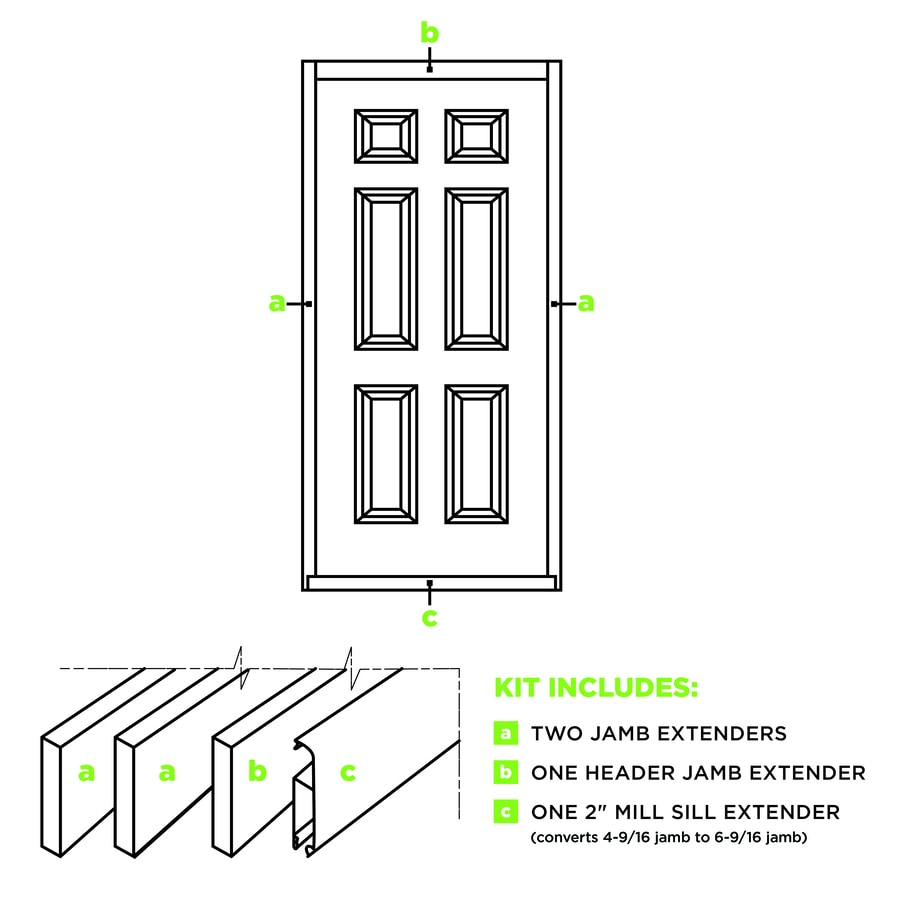 Masonite Entry Door Frame (Common: 36-in x 80-in; Actual: 36-in x 80-in)