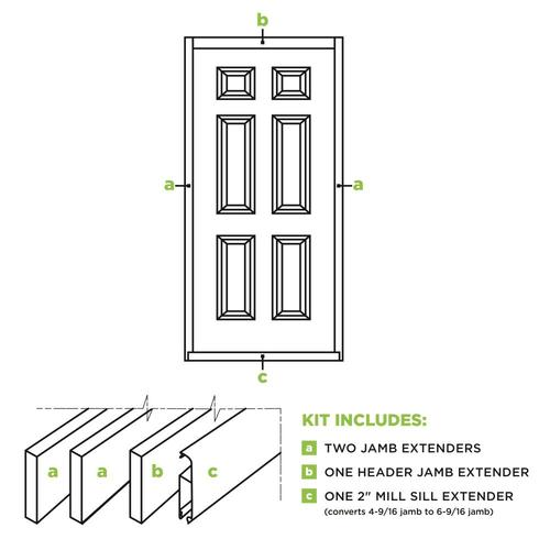 Masonite 36 In X 80 Ft Pine Door Jamb Extender Kit In The Door Jamb Kits Department At Lowes Com