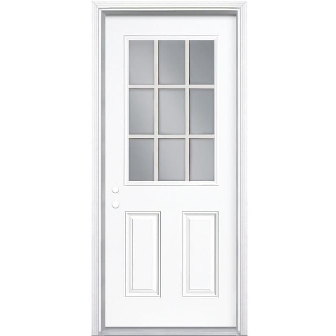 Masonite 30 In X 80 In Steel Half Lite Right Hand Inswing Primed Prehung Single Front Door Brickmould Included In The Front Doors Department At Lowes Com Then the combination exterior doors are for you. masonite 30 in x 80 in steel half lite right hand inswing primed prehung single front door brickmould included