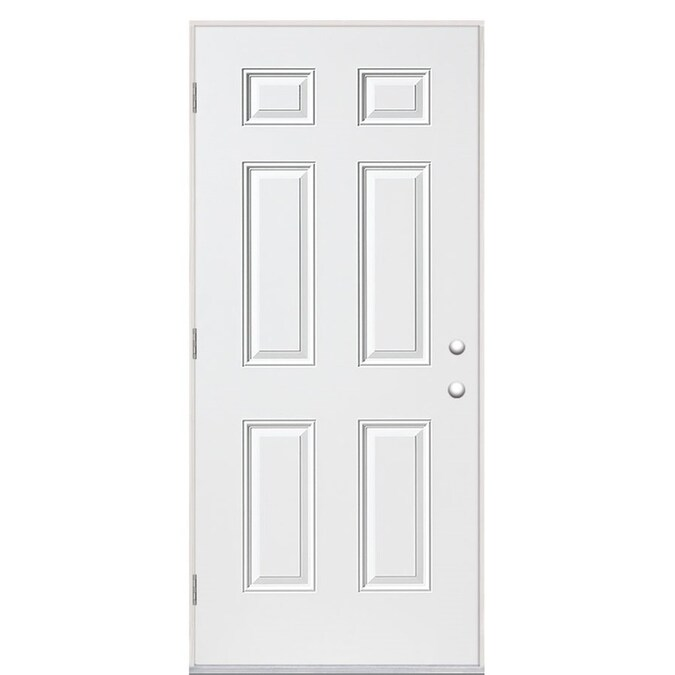 Masonite 36 In X 80 In Steel Right Hand Outswing Primed Prehung Single Front Door In The Front Doors Department At Lowes Com Home hardware's got you covered. masonite 36 in x 80 in steel right hand outswing primed prehung single front door