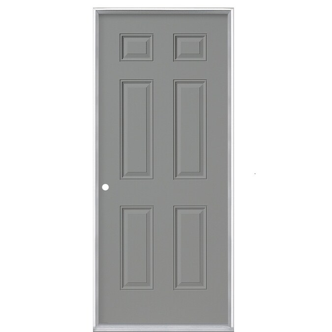 Masonite 36 In X 80 In Steel Right Hand Inswing Primed Prehung Single Front Door In The Front Doors Department At Lowes Com How to install a prehung exterior door. masonite 36 in x 80 in steel right hand inswing primed prehung single front door