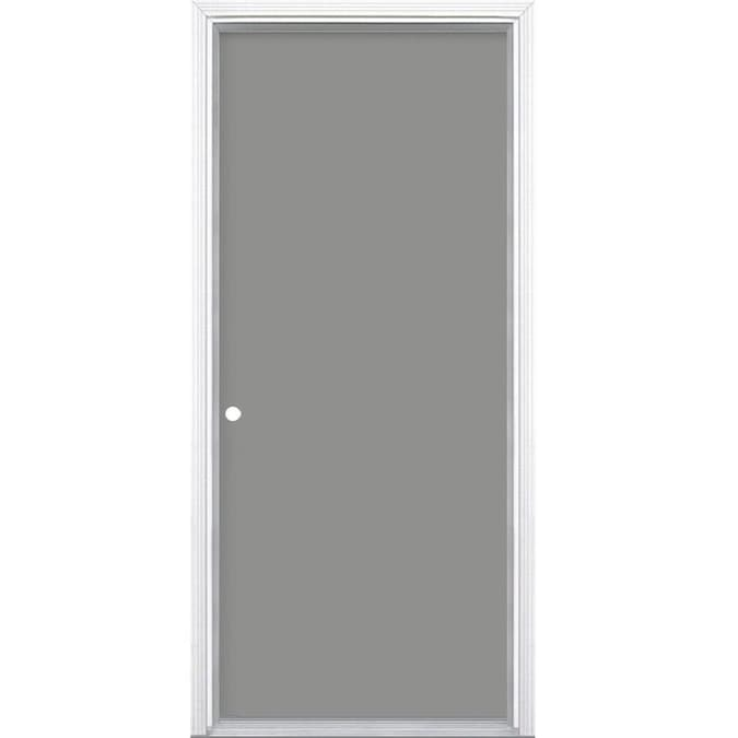 Masonite 28 In X 80 In Steel Right Hand Inswing Primed Prehung Single Front Door Brickmould Included In The Front Doors Department At Lowes Com Learn to paint your door like a professional. masonite 28 in x 80 in steel right hand inswing primed prehung single front door brickmould included