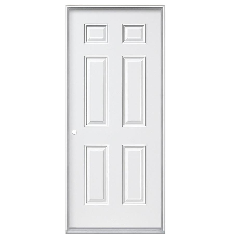 Masonite Right Hand Inswing Primed Steel Prehung Entry Door With