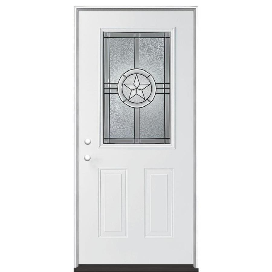 Star doors therma tru smooth star fiberglass door for Decorative glass for entry doors