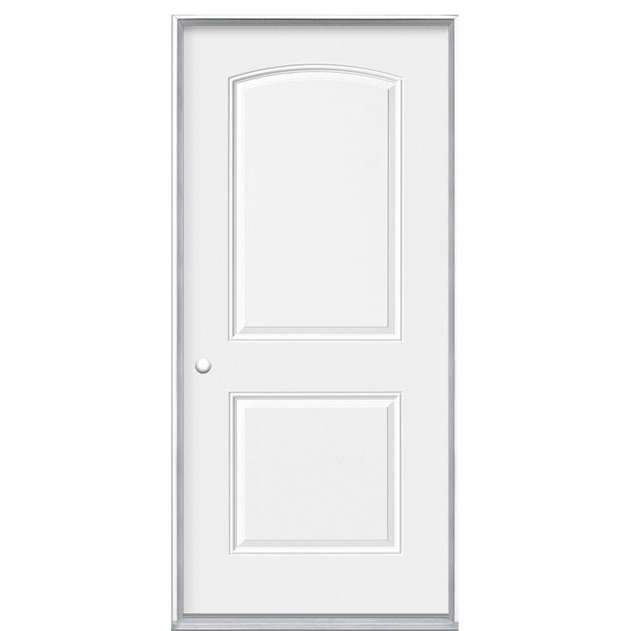 Masonite 2-Panel Insulating Core Right-Hand Inswing Steel Primed Prehung Entry Door (Common: 36-in x 80-in; Actual: 37.5-in x 80.375-in)