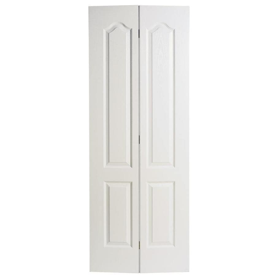 Masonite Classics 2-panel Arch Top Bi-fold Closet Interior Door (Common: 24-in X 80-in; Actual: 23.5-in x 79-in)