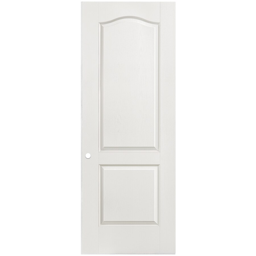 Shop Masonite Classics 2 Panel Arch Top Slab Interior Door Common 32 In X 80 In Actual 32 In