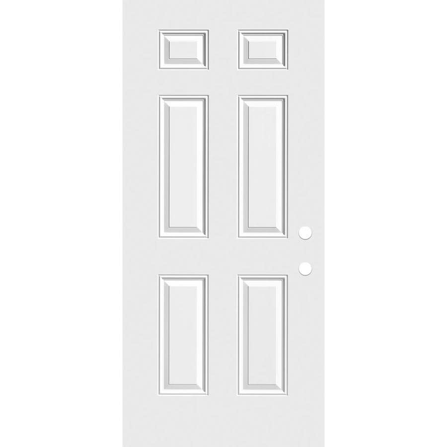 Masonite Reversible Primed Steel Slab Entry Door with Insulating Core (Common: 30-in x 80-in; Actual: 29.75-in x 79-in)