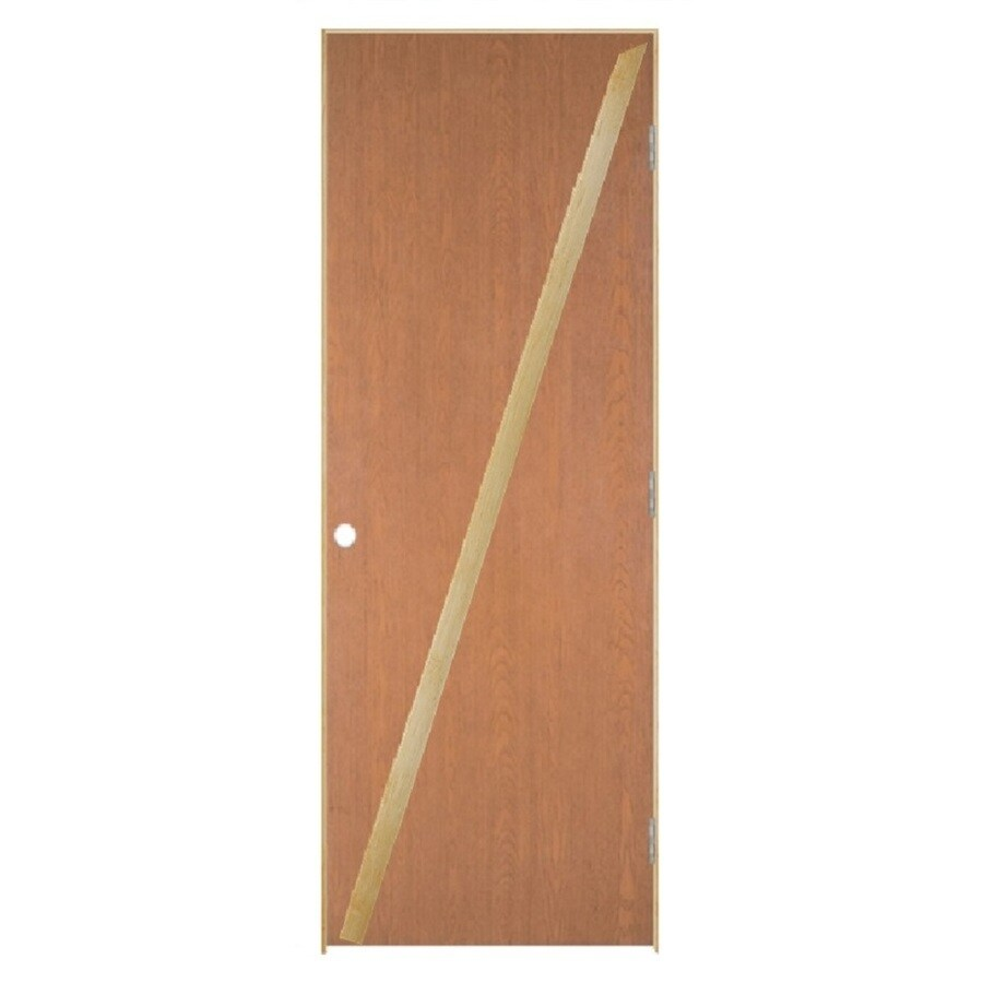 Masonite Loose 366 Flush Hardwood Single Prehung Interior Door (Common: 24-in X 80-in; Actual: 25.5-in x 81.5-in)