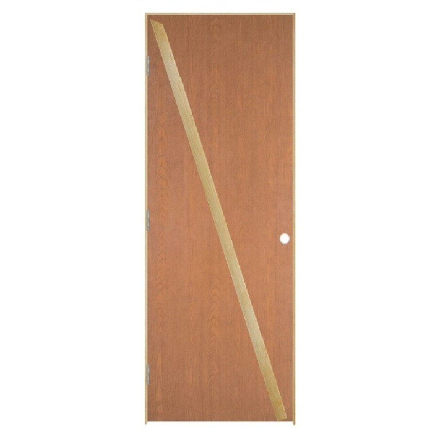 Masonite Loose 366 Prehung Hollow Core Flush Hardwood Interior Door (Common: 24-in x 80-in; Actual: 25.5-in x 81.5-in)