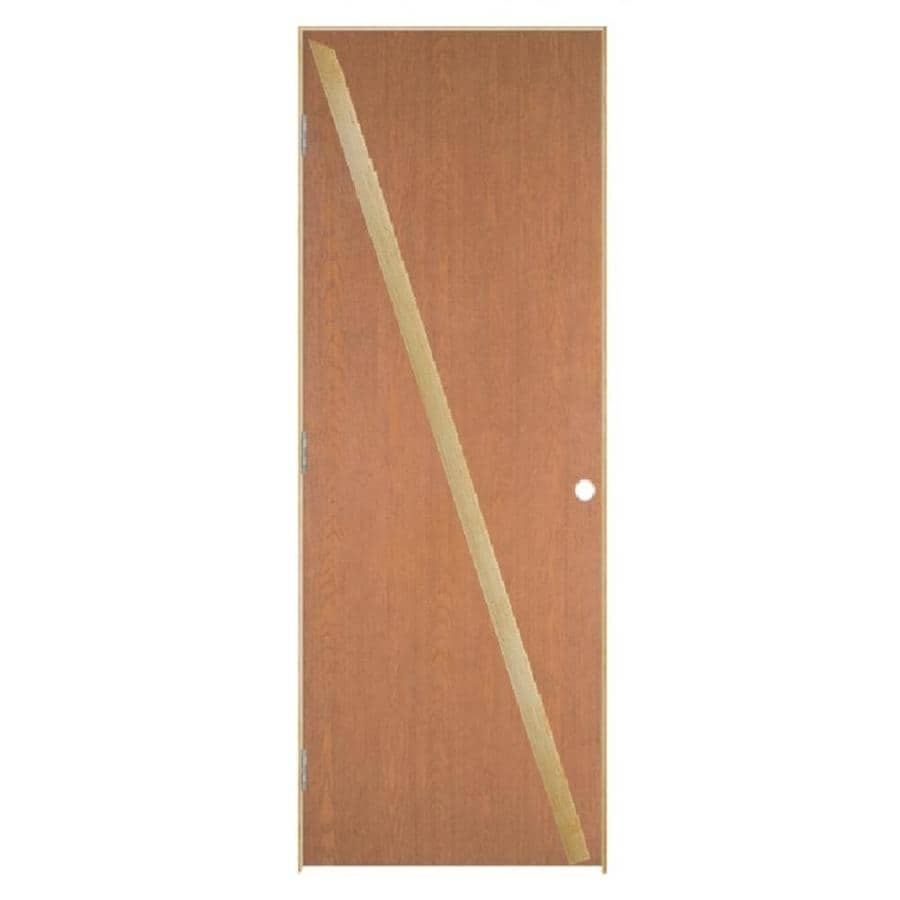 Masonite Prehung Hollow Core Flush Hardwood Interior Door (Common: 28-in x 80-in; Actual: 29.5-in x 81.5-in)