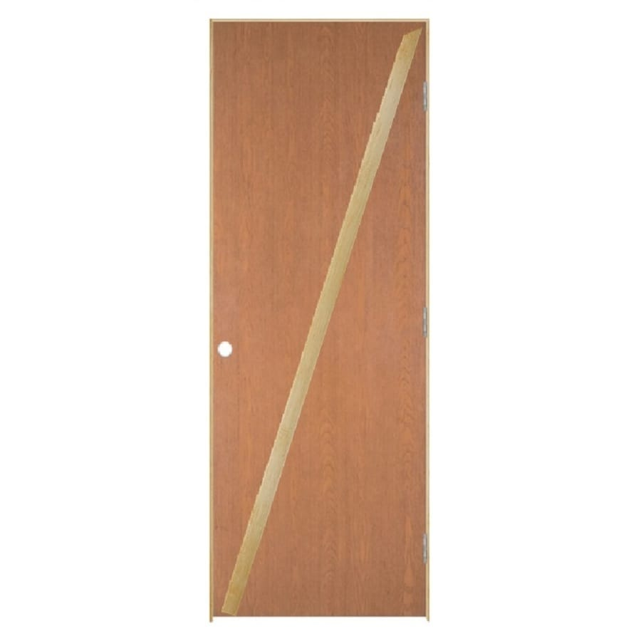 Masonite Flush Unfinished Hollow Core Veneer Hardwood Single Prehung Interior Door (Common: 30-in X 80-in; Actual: 31.5-in x 81.5-in)