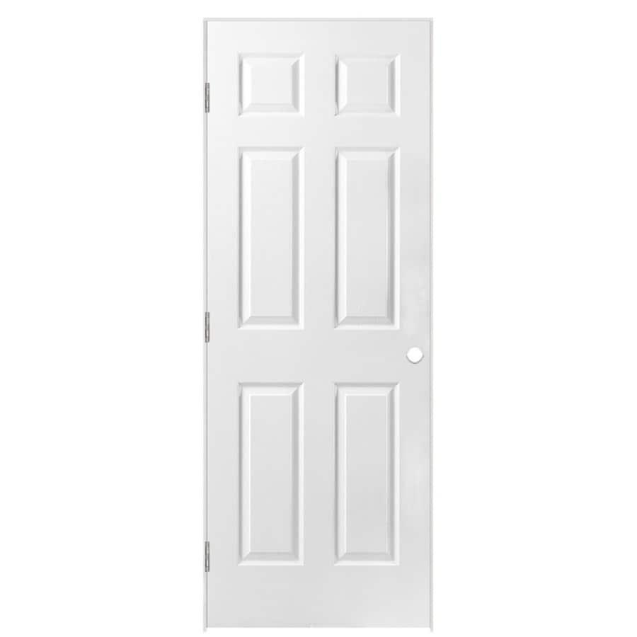 Masonite Classics 6-panel Single Prehung Interior Door (Common: 26-in x 80-in; Actual: 27.5-in x 81.5-in)