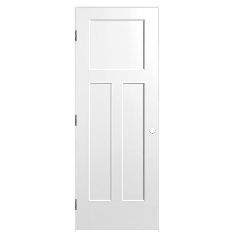 Masonite Prehung Hollow Core 3-Panel Craftsman Interior Door (Common: 24-in x 80-in; Actual: 25.75-in x 81.75-in)