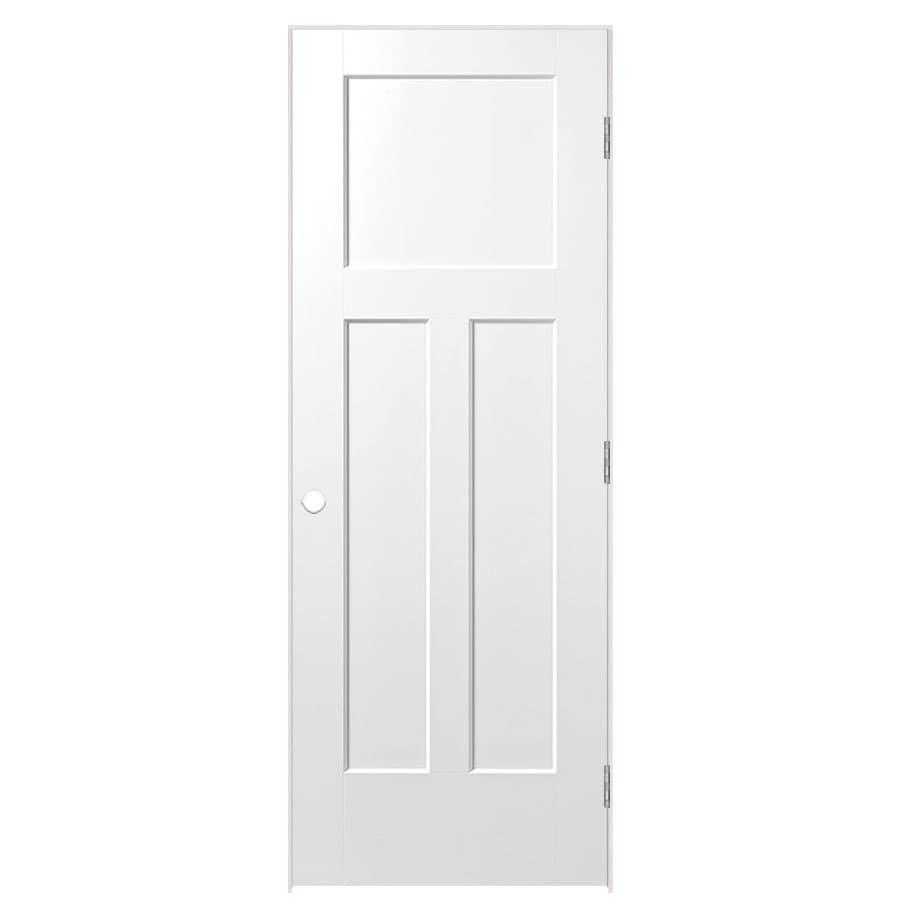 Masonite Prehung Hollow Core 3-Panel Craftsman Interior Door (Common: 24-in x 80-in; Actual: 25.75-in x 81.75-in)