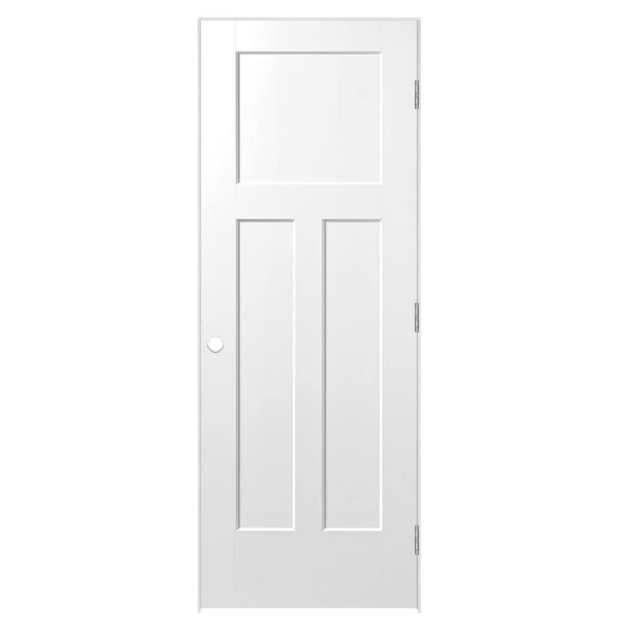 Masonite Primed Molded Composite Interior Door (Common: 28-in x 80-in; Actual: 29.75-in x 81.75-in)