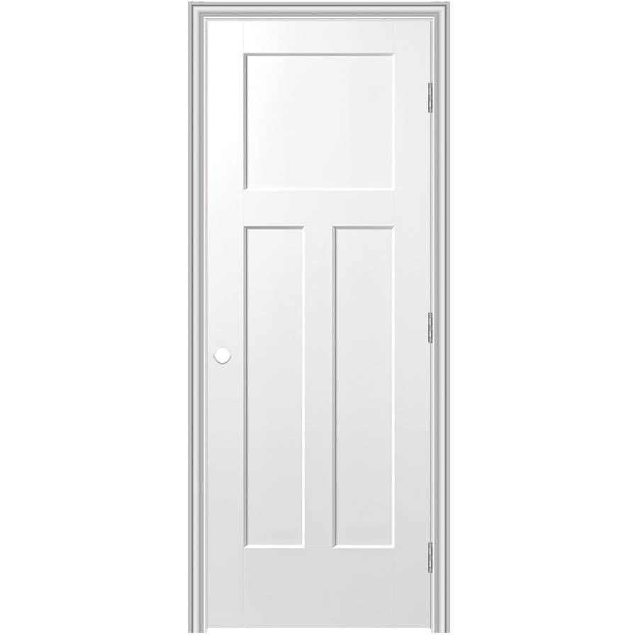 Masonite Classics  3-panel Craftsman Single Prehung Interior Door (Common: 24-in X 80-in; Actual: 25.75-in x 81.75-in)