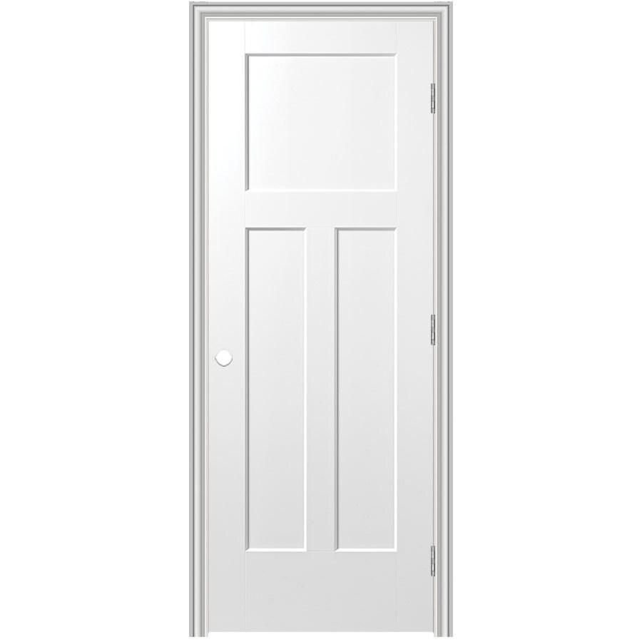 Masonite Prehung Hollow Core 3-Panel Craftsman Interior Door (Common: 28-in x 80-in; Actual: 29.75-in x 81.75-in)