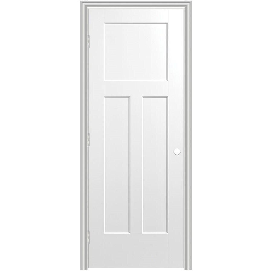 Masonite Prehung Hollow Core 3-Panel Craftsman Interior Door (Common: 30-in x 80-in; Actual: 31.75-in x 81.75-in)