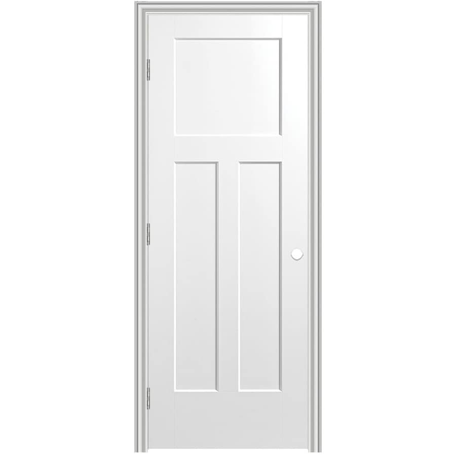 Masonite Prehung Hollow Core 3-Panel Craftsman Interior Door (Common: 32-in x 80-in; Actual: 33.75-in x 81.75-in)