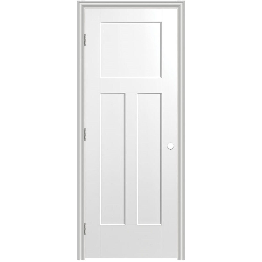 Masonite Classics 3-panel Craftsman Single Prehung Interior Door (Common: 30-in X 80-in; Actual: 31.75-in x 81.75-in)