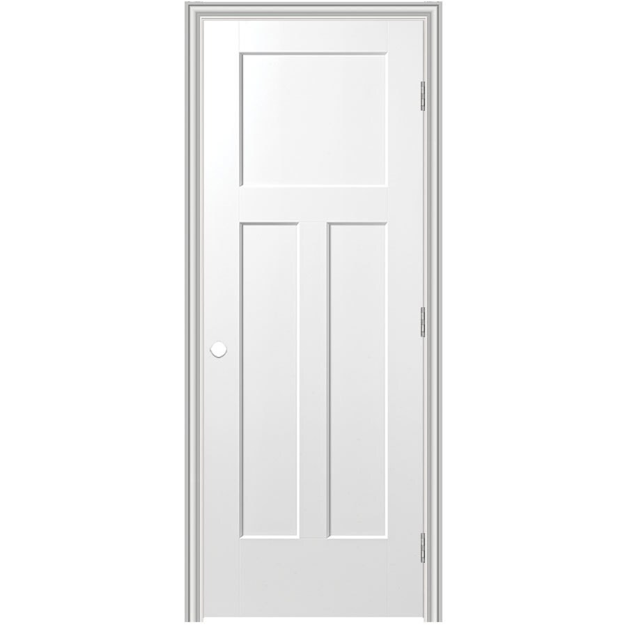 Masonite Prehung Hollow Core 3-Panel Craftsman Interior Door (Common: 36-in x 80-in; Actual: 37.75-in x 81.75-in)