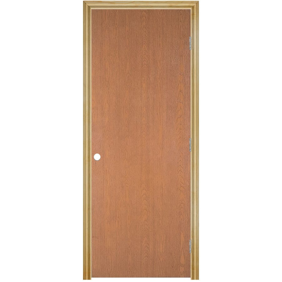 Masonite Prehung Hollow Core Flush Hardwood Interior Door (Common: 24-in x 80-in; Actual: 25.75-in x 81.75-in)