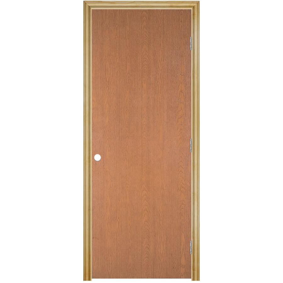 Masonite Classics  Flush Hardwood Single Prehung Interior Door (Common: 30-in X 80-in; Actual: 31.75-in x 81.75-in)