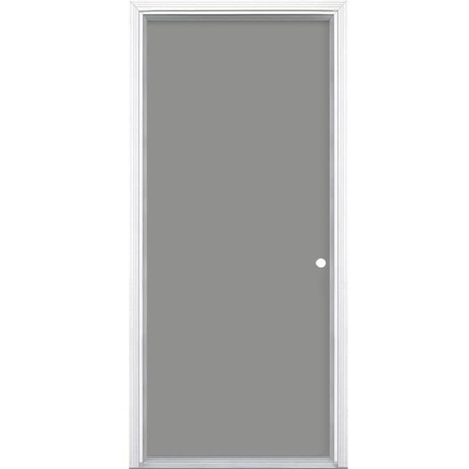Masonite 28 In X 78 In Steel Left Hand Inswing Primed Prehung Single Front Door Brickmould Included In The Front Doors Department At Lowes Com Verona home design's fiberglass smooth entry doors are an intricate part of home design. masonite 28 in x 78 in steel left hand inswing primed prehung single front door brickmould included